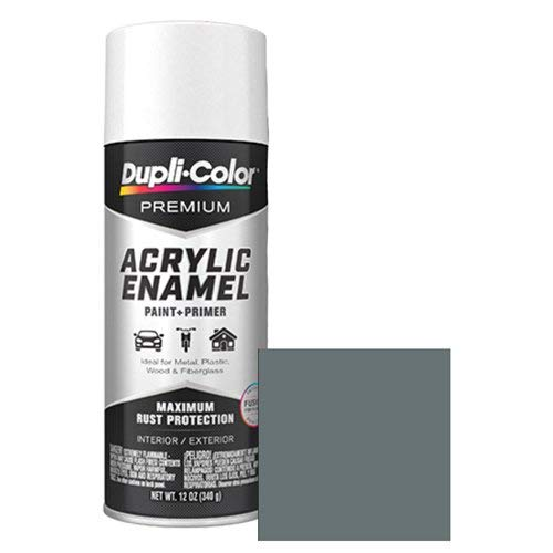 Dupli-Color EPAE10300 Premium Acrylic Enamel Spray Paint (PAE103 Medium Gray 12 oz), 12. Fluid_Ounces