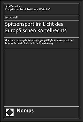 Book Spitzensport im Licht des Europäischen Kartellrechts