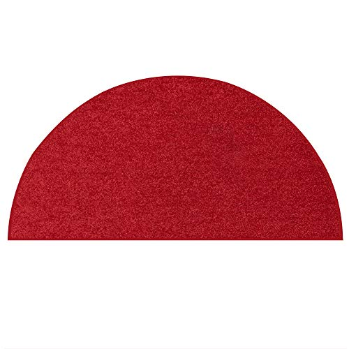 Ambiant Pet Friendly Solid Color Area Rug Red - 18