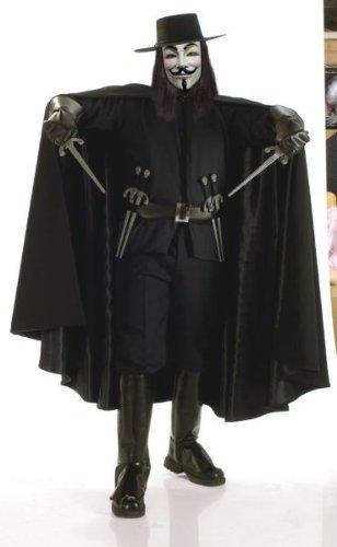 Vendetta Deluxe Costumes (Super Deluxe V for Vendetta Adult Costume - X-Large)