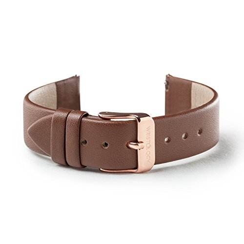 WRISTOLOGY 18mm Womens Brown Leather Easy Change Interchangeable Strap Band