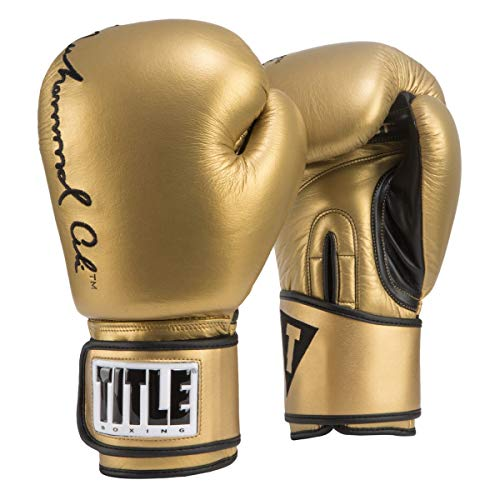 Title Boxing Ali Signature Exclusive Bag Glove, Gold, 16 oz