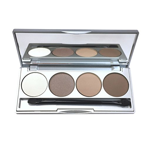 Honeybee Gardens Hot Chocolate Refillable Eye Shadow Palette | Natural Ingredients | Gluten Free, Vegan, Paraben Free
