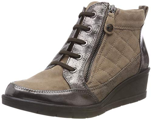 25224 Tamaris Botines Comb 21 Marron 344 Femme taupe On8wBRqx