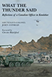 What the Thunder Said: Reflections of a Canadian Officer in Kandahar