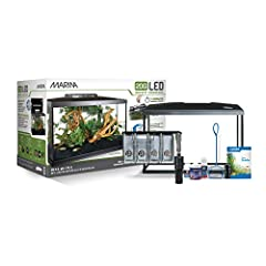 Ideal for the beginning aquarist, the Marina 20G LED Aquarium Kits comes equipped with everything needed to make the novice fish hobbyist's first venture into the wonderful world of fish-keeping an easy and enjoyable experience. This 20 gallo...