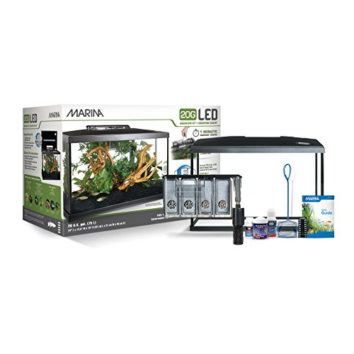 Marina Aquarium Kit - 20 gallon Fish Tank - LED