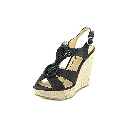 American Rag Gloria Canvas Wedge Sandal Black