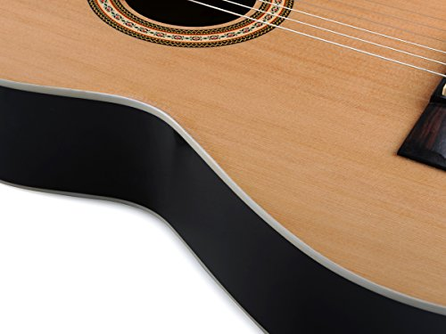 ADM Full Size Nylon-String Classical Guitar with Gig Bag, E-tuner, etc, Student Beginner Kit - Image 6