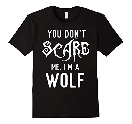Clever Science Costumes (Mens Funny Wolf Shirts Halloween Costume Joke Gag Wolfpack Gifts. XL Black)