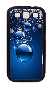 Samsung S3 Case,VUTTOO Stylish Christmas Ornaments (Blue Background) Hard Case For Samsung Galaxy S3 I9300 - PC Black