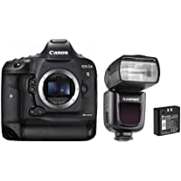 Canon EOS 1DX Mark II DSLR Body - With Flashpoint Zoom Li-on R2 TTL On-Camera Flash Speedlight