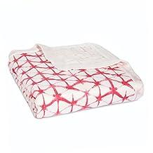 aden + anais Silky Soft Dream Blanket, Berry Shibori