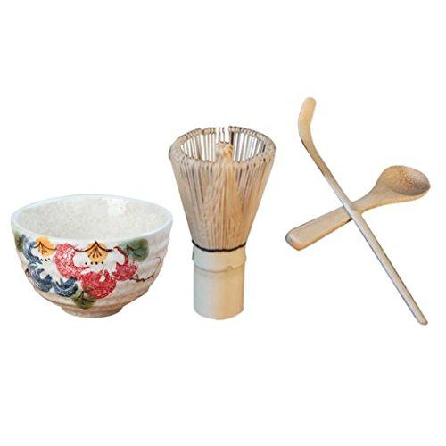 Homyl Cuchara de Cuenco de Cerámica Té de Bambú Japonés Chasen Matcha Batidor Accesorios