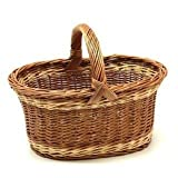 Large Wicker 2 Tone Shopping Basket