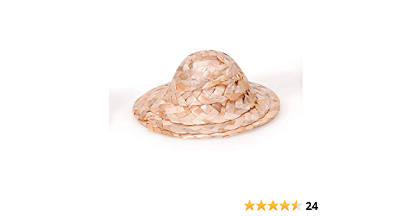 """1 DOZEN 12 New 4/"""" Straw Hats for Doll Bears or Crafts Craft Crafting Hat"""