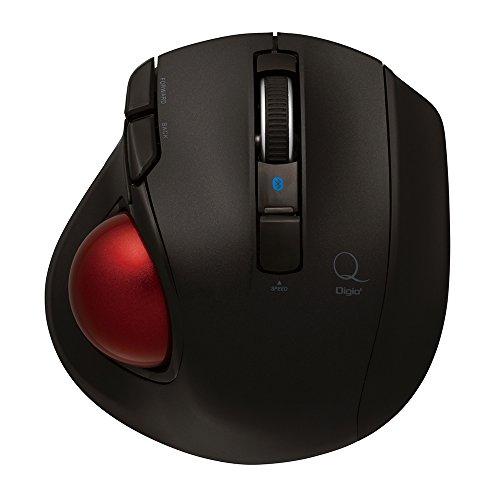 Nakabayashi Co.,Ltd. Small Mouse Bluetooth Wireless Trackball 5 buttons (Black)