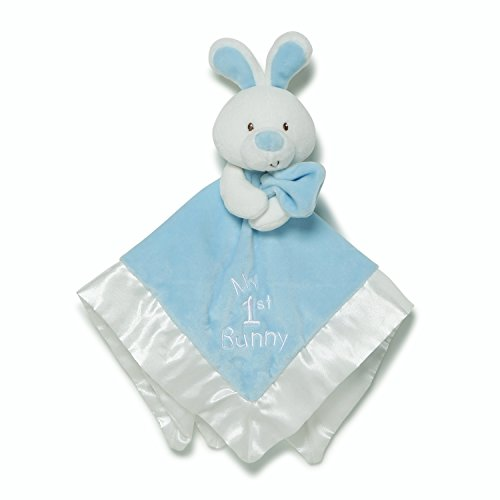 Gund Baby Lovey Plush Stuffed Animal Blanket, Blue My 1st Bunny Easter, 12