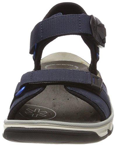 Part Clarks Explore Sandals Leather Nubuck Navy Mens vZ5ZwOq6x