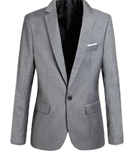 Hoffnung Slim Fit Casual Blazer Jacket for Men (XL, Gray)