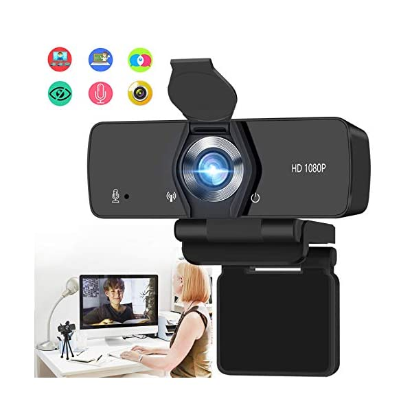 Burxoe Webcam 1080P Hd Web Camera with Microphone for Desktop Computer Laptop Pc Streaming Usb