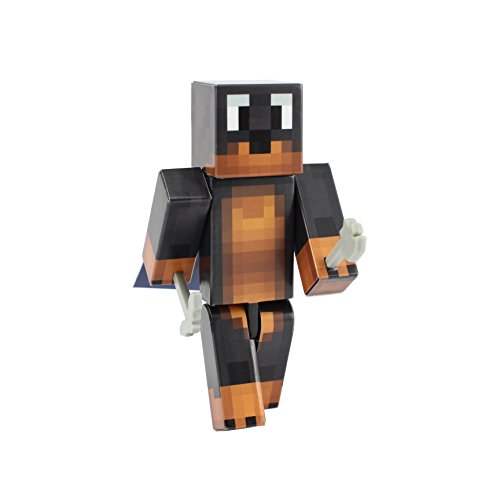 [Doberman Dog Action Figure Toy, 4 Inch Custom Series Figurines by EnderToys] (Ghast Minecraft Costume)