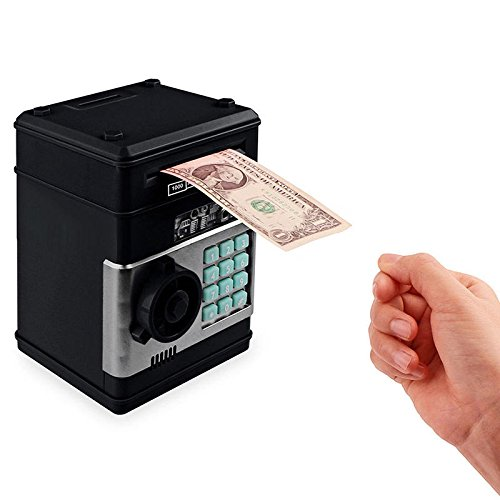 Edxtech Combination Lock Money Box Code Key Coins Cash Saving Piggy Bank Counter Gift
