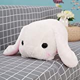 Plush Floppy Ear Sitting Lovely Creamy Bunny Rabbit Stuffed Animal, Soft Cuddly, Perfect for Girls Boys Newborn