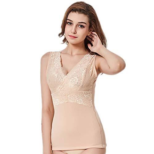 CofeeMO Women's Sexy Lace Slim Tummy Control Body Shaper Tank Tops Underwear,v Neck Sleeveless -