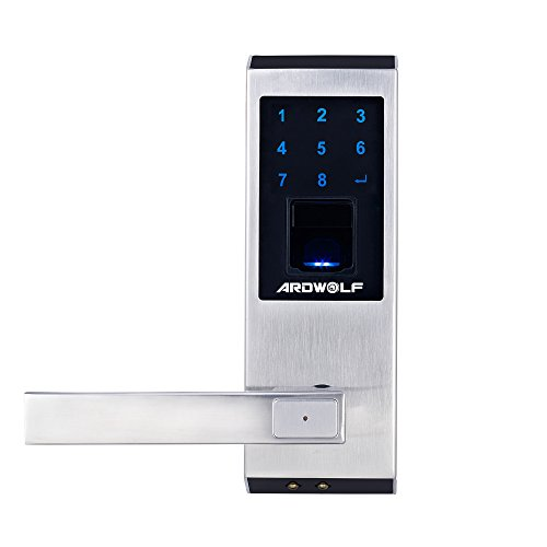 Ardwolf A20 Security High-sensitivity High-Recognition Rate Keyless Biometric Fingerprint Door Lock, Left-Handed by Ardwolf