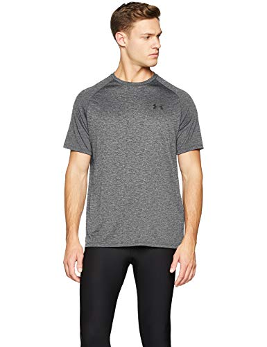 Under Armour Men's Tech 2.0 Short Sleeve,Grey/Black (002), ()