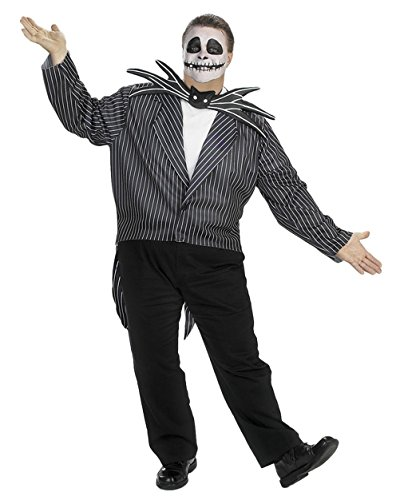 [Plus Size Jack Skellington The Nightmare Before Christmas Tim Burton Halloween Sizes: One Size] (The Nightmare Before Christmas Sexy Jack Costumes)