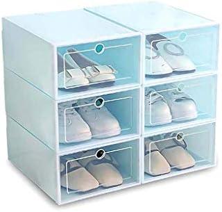 Caja de zapatos de plástico apilable, plegable, con cajón, con ...