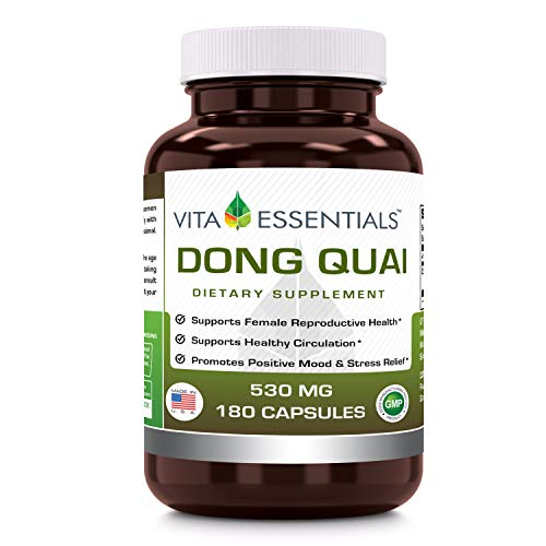 - Vita Essentials Capsules, Dong Quai, 530 Mg, 180 Count