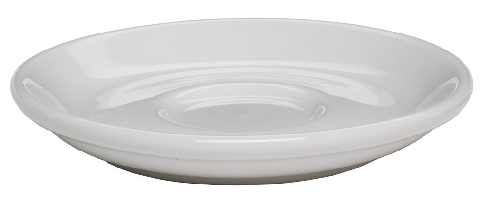 Rattleware Coffee House Collection Saucer for 12 ounce cup, 6 1/2'' diameter, Set of 6, White by Rattleware (Image #1)