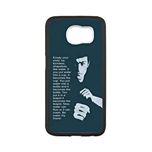 Cool Bruce Lee Li Xiaolong Quotes Plastic and TPU Case Cover for Samsung Galaxy S6 (Laser Technology)