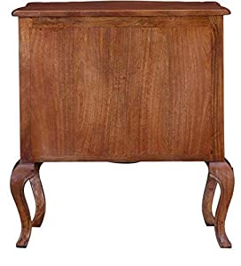 PAC Solid Mango Wood Side Board STORAGECABINET for Living Room 1 DROWER and 2 Door/Wooden Cabinet/Honey Finish,28X17X30 INCH
