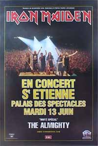 Music - Rock Posters: Iron Maiden - St Etienne Poster - 112x76cm (Iron Maiden Killers Poster compare prices)