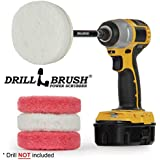 Drill Brush - Drill Attachment - Bathroom - Power Scrubber Pads - Cleaning Pads - Bath - Shower Door - Scouring Pad Kit - Bath Mat - Bathroom Sink - Shower Cleaner - Vinyl Flooring - Scrub Pads
