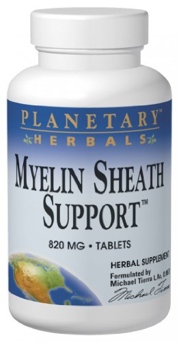 Planetary Herbals Myelin Sheath Support 820 mg, Herbal-Nutrient Nervous System Support, 180 Tablets