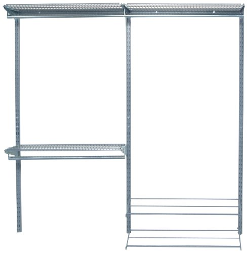 Top Rail Shelving (Triton Products Modular Closet, Garage, and Laundry Organizer Kit, (2)Top Tracks, (3)Hang Rails, (3)Shelf, (3)Clothes Rod, (2)Shoe and Boot Rack & Mounting Hardware)