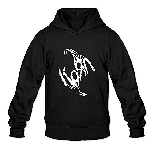 NNKEY Men's Long Sleeve Korn Nu-Metal Band Sweatshirt Hoody Black M