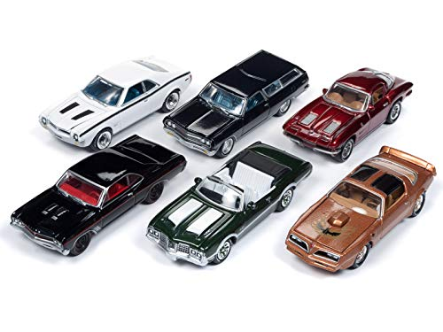 Classic Gold 2018 Release 3 Set B of 6 Cars 1/64 Diecast Models by Johnny Lightning JLCG015 B - Johnny Lightning Classic Car