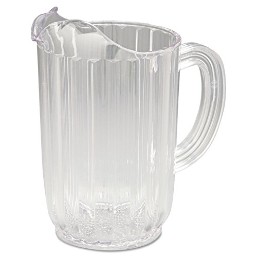 (Rubbermaid RCP3336CLE Bouncer Plastic Pitcher 32oz Clear)