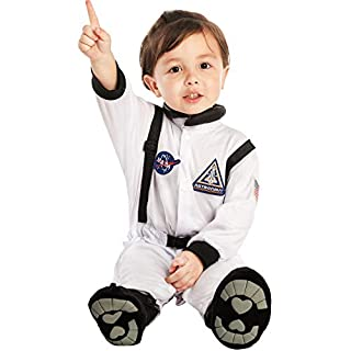 Baby Unisex NASA Jr. White Astronaut Suit Costume (Large (18-24 Months))