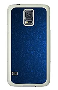 Samsung Galaxy S5 Blue Pattern PC Custom Samsung Galaxy S5 Case Cover White