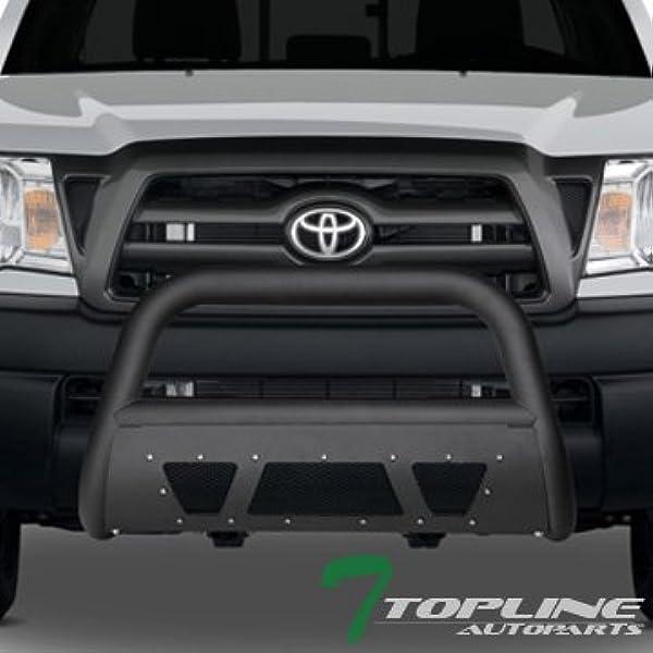 Fits 05-15 Toyota Tacoma Blk Steel Bull Bar Brush Push Bumper Grill Grille Guard