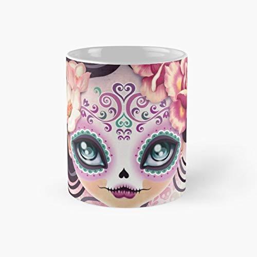 Pink Halloween 110Z Coffee Mugs]()