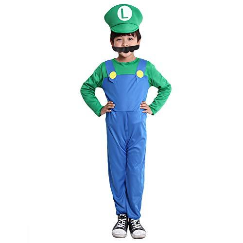 Maibos Kids Halloween Mario Costume (M, ()