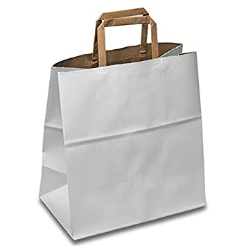 Amazon.com: Papel blanco bolsas de comestibles – Twist mango ...